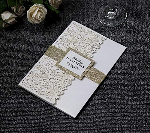 (Invitation Cards with Envelopes for Wedding Invitations, Bridal Shower Invitations and All Celebration Party, White*50 Pics)