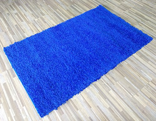 Royal Blue Rug (Lexington Home 5' x 7' Shag Area Rug Royal Blue Long Pile Soft and Cozy Ultra-Comfortable Shaggy Rug)