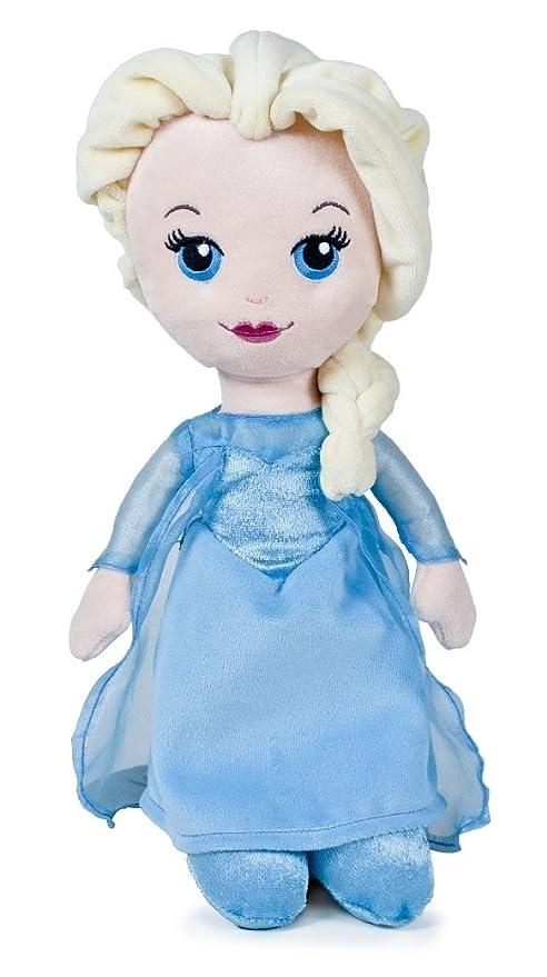 Muñecas de peluche Frozen Elsa y Anna. Pack de 2 peluches. 25 cm. Disney: Amazon.es: Juguetes y juegos