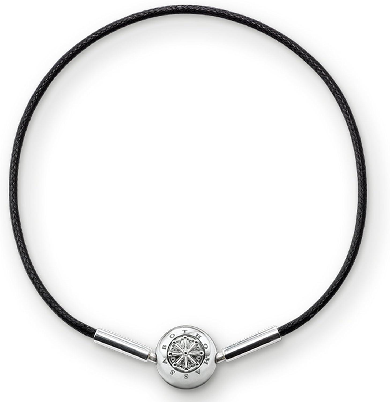 Thomas Sabo - Pulsera de plata de ley 925 para mujer, color negro