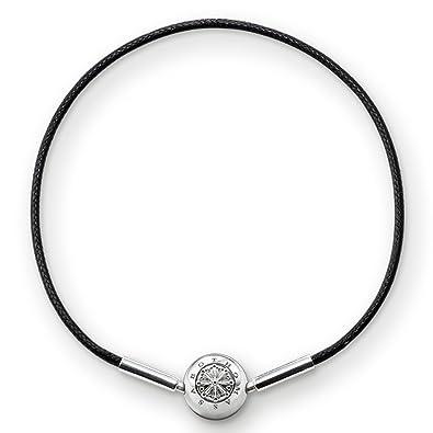 Thomas Sabo Women-Bracelet Karma Beads 925 Sterling Silver black Length 18 cm KA0003-653-11-L19 kz7WPpO