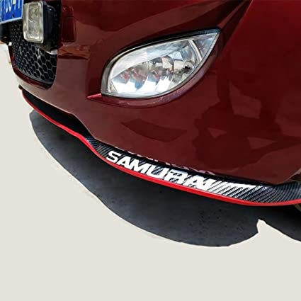 2.5M Red Car Front Bumper Quick Lip Splitter Body Spoiler Skirt Rubber Protector