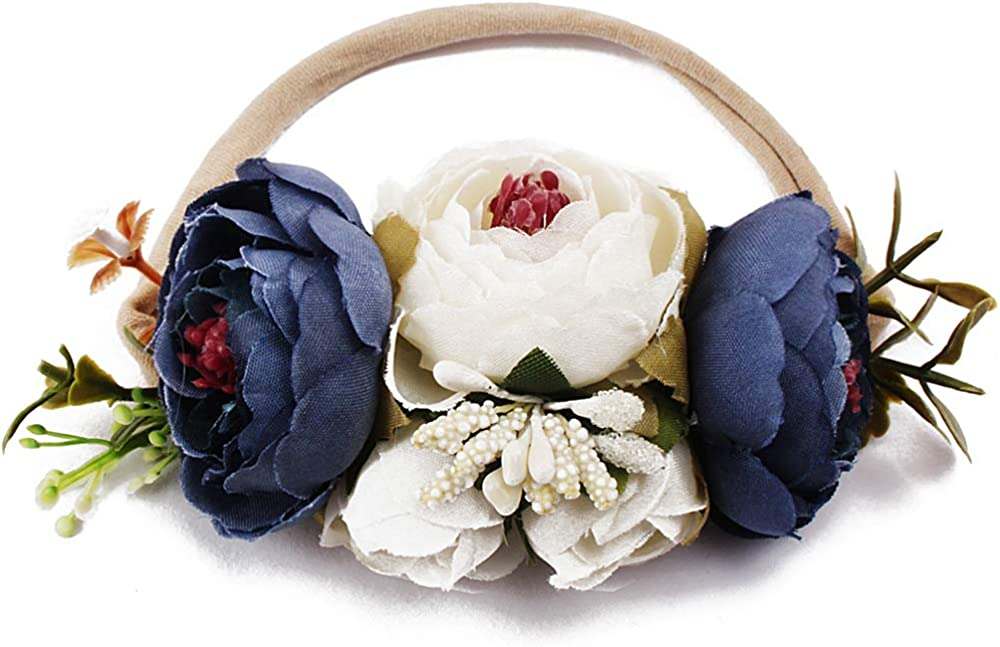 Baby Girl Floral Headbands Set 3pcs Flower Crown Newborn Toddler Hair Accessories by mligril