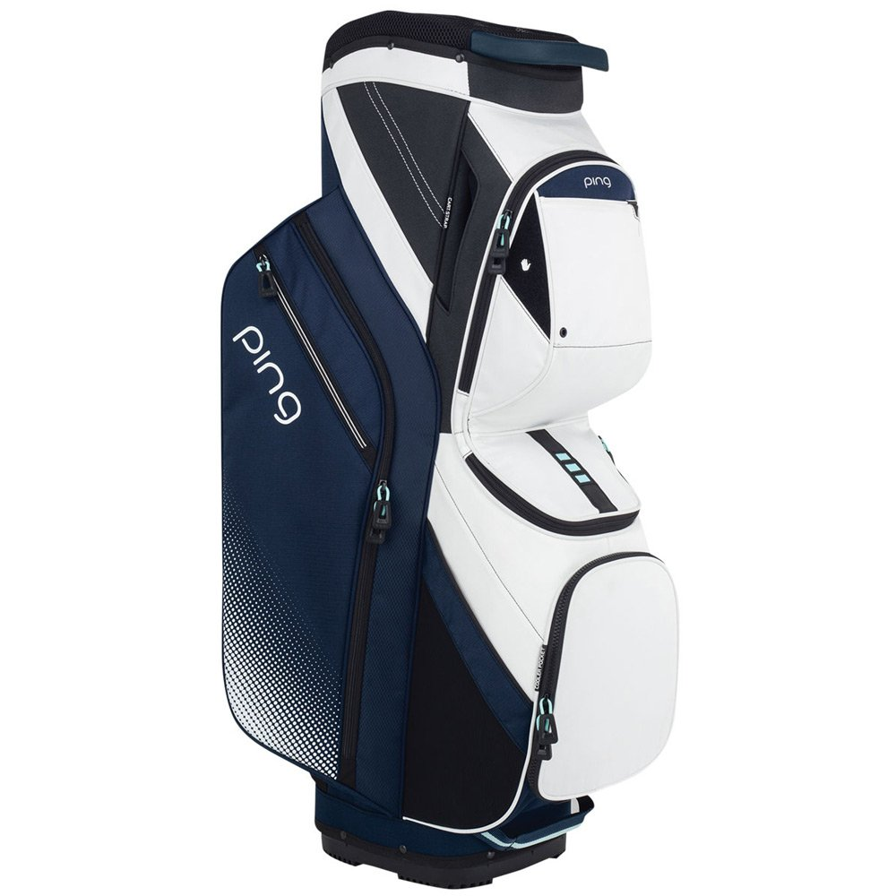 PING WOMENS TRAVERSE 14-WAY GOLF BAG - NAVY WHITE/WHITE/MINT - 2018