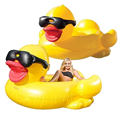 amazon com game giant inflatable derby duck 2 swimming pool toy