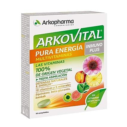 Arkopharma Arkovital Pura Energía Multivitaminas Inmuno Plus Comprimidos, 30Uds