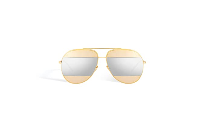 b7f813e5ee7bbc Christian Dior Split 1 Gold with Silver Mirroried lenses color 000 DC Size  59