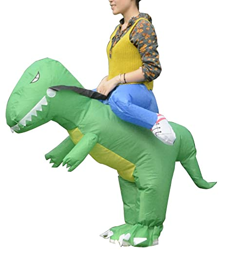 LaoZan Disfraz de Halloween Inflable T-Rex Dinosaurio Disfraz ...