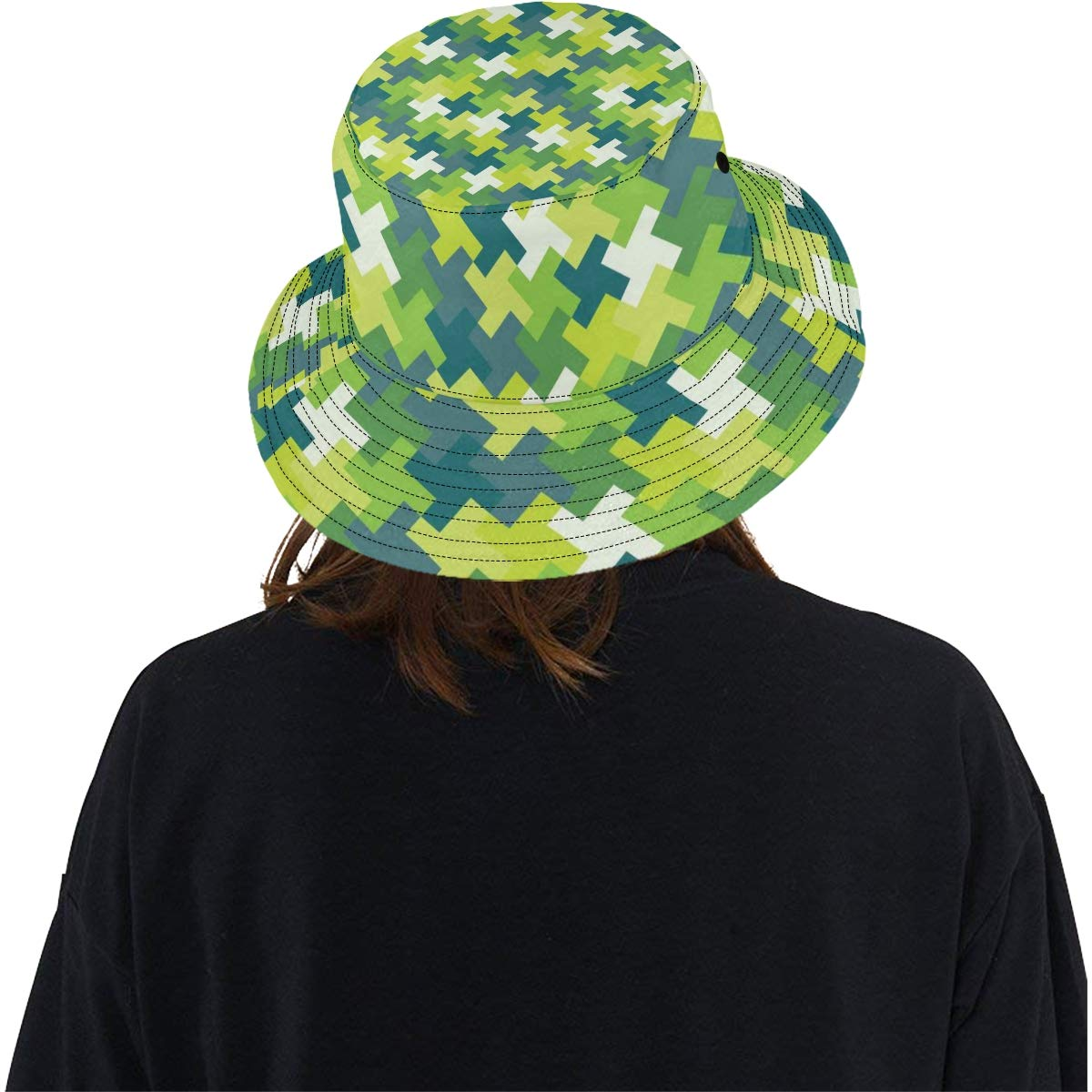 Difficult Endless Jigsaw Puzzle Pieces New Summer Unisex Cotton Fashion Fishing Sun Bucket Hats for Kid Teens Women and Men with Customize Top Packable Fisherman Cap for Outdoor Travel