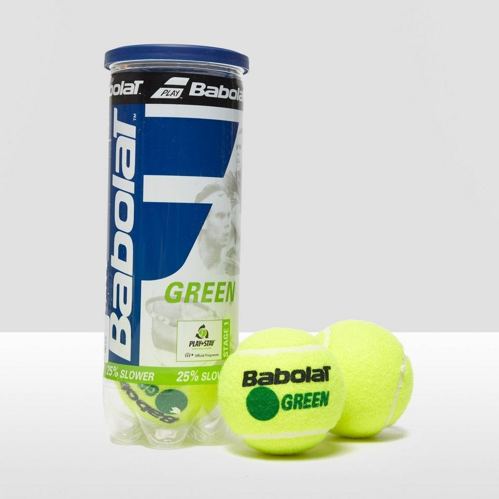 Amazon.com : Babolat Green x3 Tennis Balls, Green, One Size ...