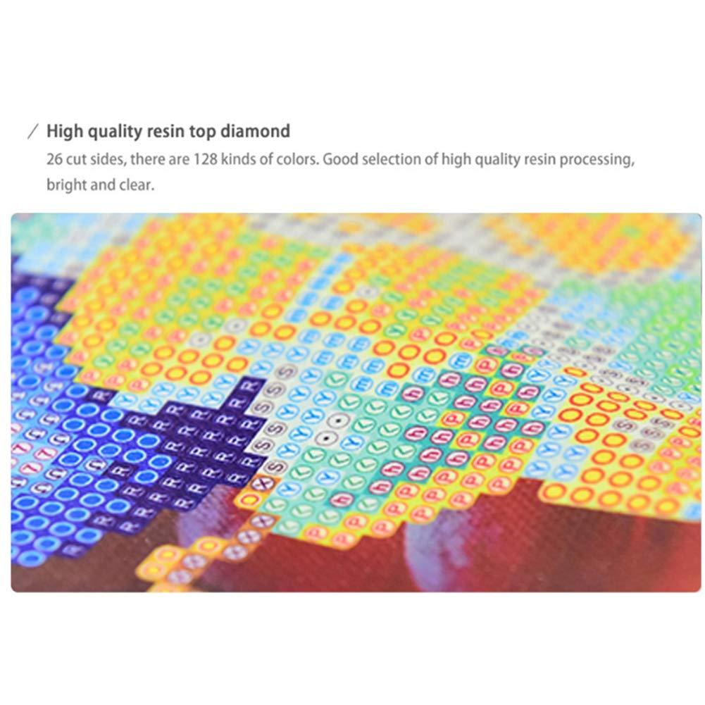 5d diy Diamond pintura colorida un gato y algodón bordado Craft de punto de cruz, diseño de pintura por número kits: Amazon.es: Hogar