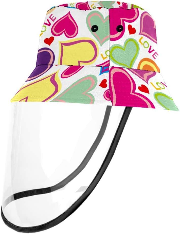 GHBDFG Love Full Face Casquette de Protection Amovible Anti-/éclaboussures Visage Capuchon Anti-Pollution Unisexe