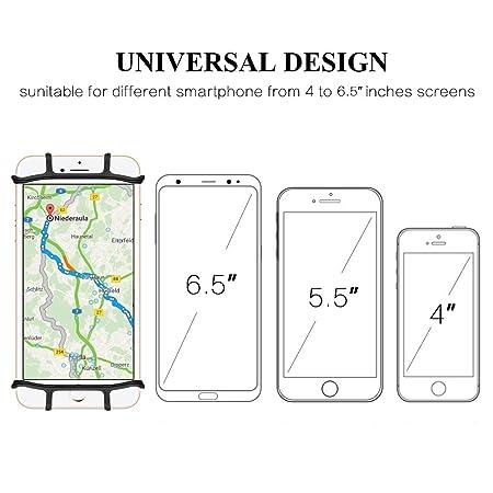 StillCool Soporte del Teléfono Móvil para Bicicletas y Motos,360 ° Giratorio para Cualquier teléfono Inteligente de 4