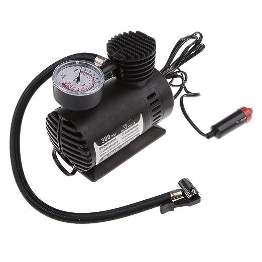 Compresor De Aire Inflador De Neumaticos 12v Dc Bomba Automatica De Coche Mini Portatil: Amazon.es: Coche y moto