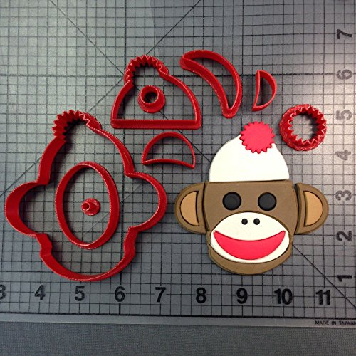 Sock Monkey Cookie Cutter Set 3inches