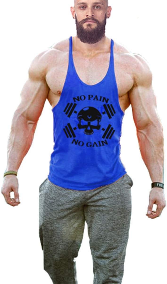 Cabeen Herren No Pain No Gain Muskelshirt Sport Tank Top Fitness Bodybuilding /Ärmellos Unterhemden