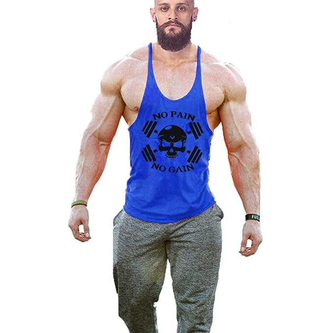 Cabeen No Pain No Gain Tirantes Culturismo Camiseta de Fitness Hombre Deportiva Tank Top: Amazon.es: Ropa y accesorios
