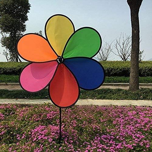 AiCheaX - Molinillo de Viento para jardín, 1 Pieza, Colorido arcoíris, Giratorio, Molino de Viento, para jardín, Patio, decoración de Exteriores, Regalo para niños: Amazon.es: Hogar