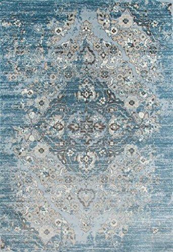 4620 Distressed Blue 6'5x9'2 Area Rug Carpet Large New ()
