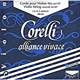 Corelli Alliance Vivace Violin D String - 4/4 size - Medium Gauge