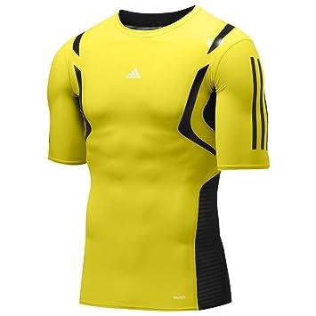 Adidas TECHFIT POWERWEB S/S TEE SHIRT Amarillo Hombre Camiseta Formación: Amazon.es: Deportes y aire libre