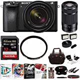 Sony Alpha a6500 Mirrorless Camera with 18-135mm f/3.5-5.6 & SEL55210B Lens
