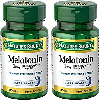 Natures Bounty Melatonin 1 Milligram, 2 Packs of 180 Tablets