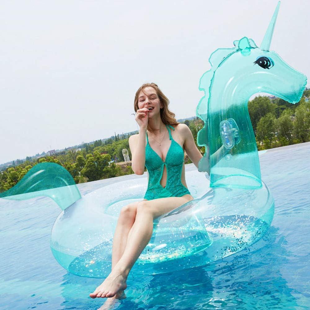 ANGAZURE Flotador de Unicornio Gigante Inflable Conveniente para ...