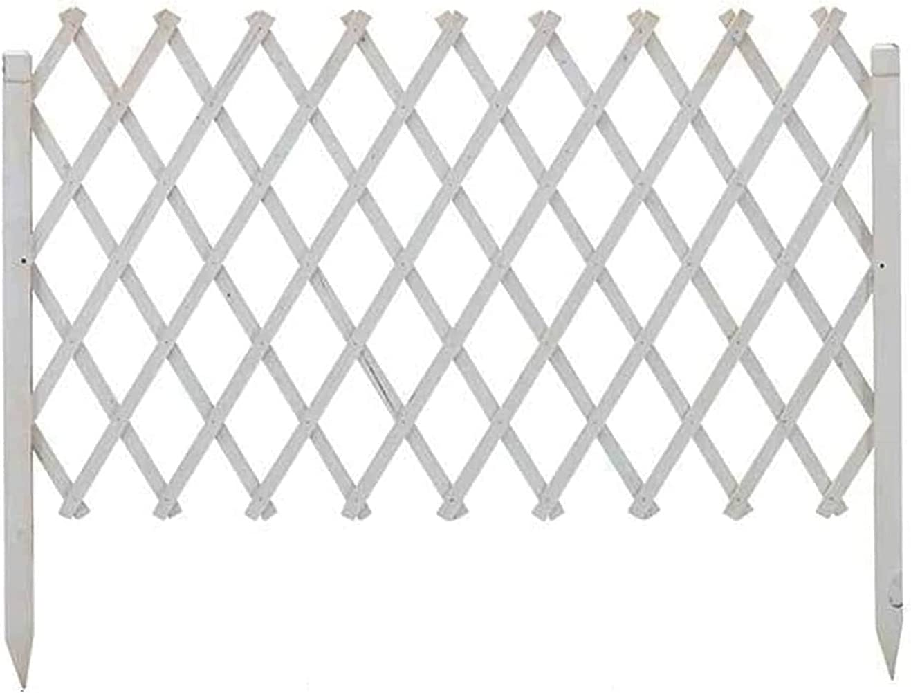 ZXFF Extended Fence Garden Fence Decorative Wooden Fence, Freestanding Wooden Grid Fence Garden Screen Plant Pet Dog Safety Fence (Size : H90xl180cm)