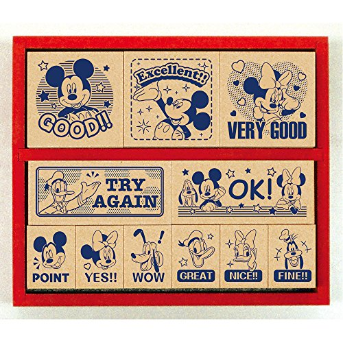 Beverly stamp Mickey Mouse wooden reward stamp ENGLISH SDH-078
