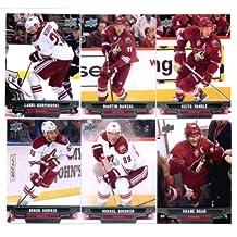 2013-14 Upper Deck NHL Hockey Phoenix Coyotes Series 1 & 2 Veterans Team Set -12 Cards Including: Martin Hanzal Keith Yandle Lauri Korpikoski Mikkel Boedker Shane Doan Derek Morris