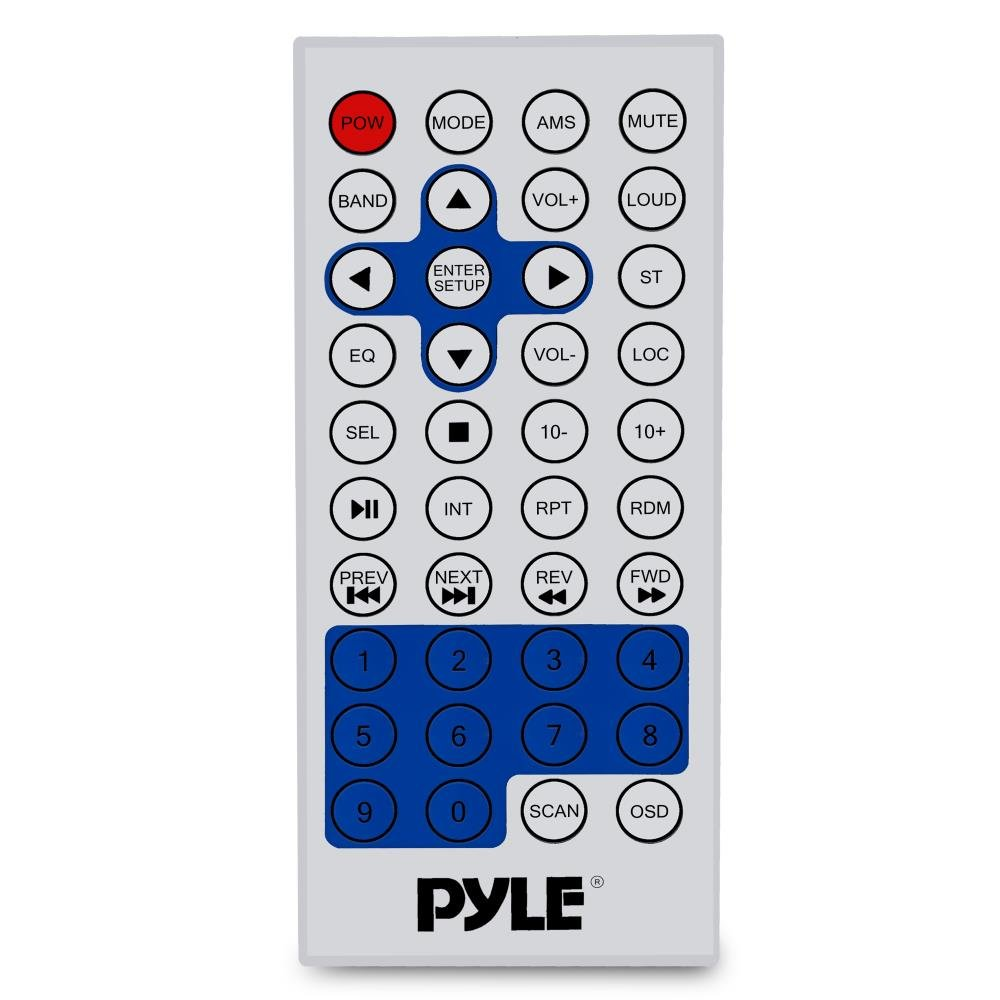 Pyle Bluetooth Marine Stereo Radio - Waterproof/Weather proof Single DIN 12v Boat Receiver with Digital Color LCD, RCA, MP3/USB, AM FM Radio - Wiring Harness, Remote Control - PLMR15BW (White) by Pyle (Image #3)
