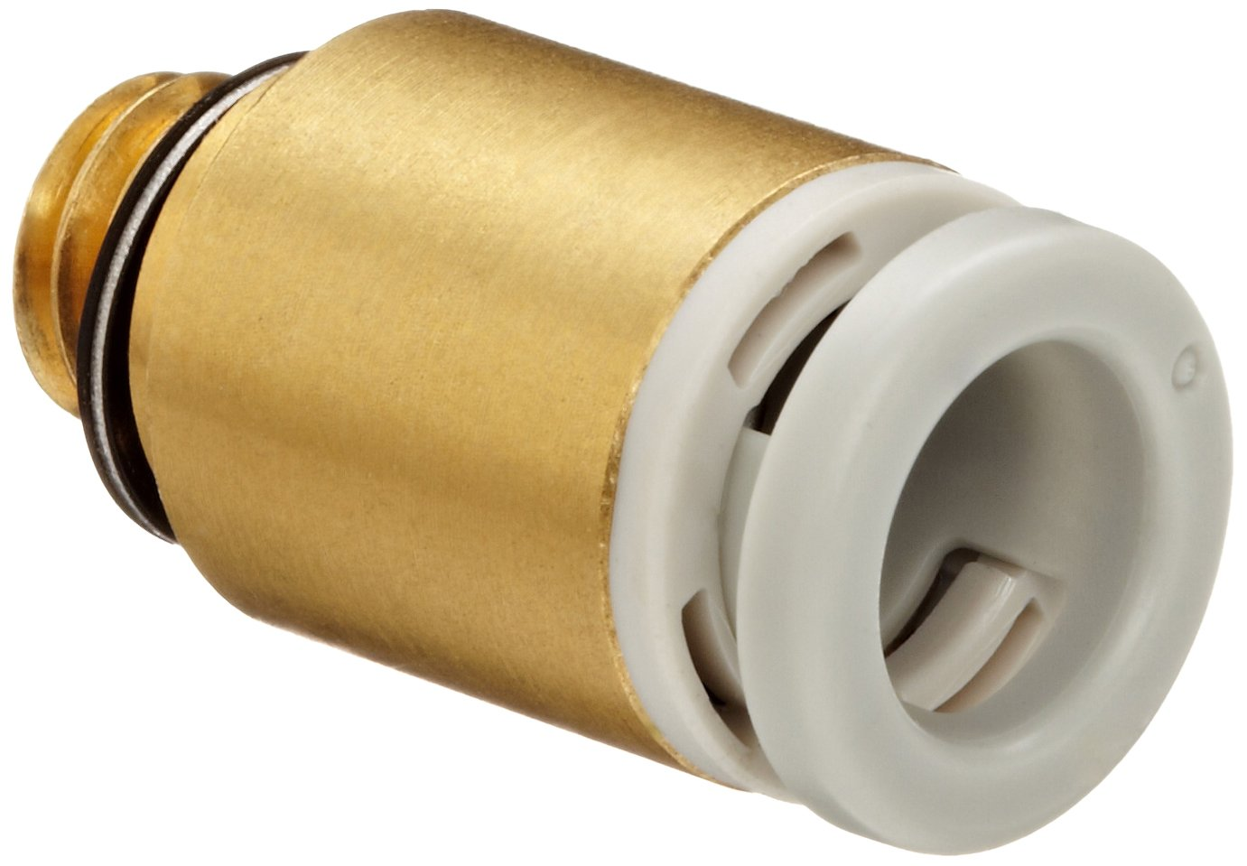 Hex Socket Head Adapter 6 mm Tube OD x M6x1 Male SMC Corporation of America SMC KQ2S06-M6A Brass Push-to-Connect Tube Fitting