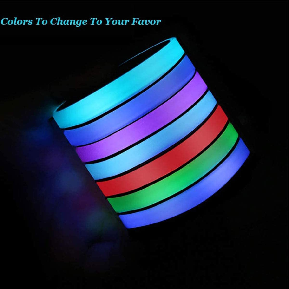 topfit Tesla Model 3 Model S Model X LED Portabicchieri per auto Luce USB ricaricabile Pad per tazza luminescente 7 colori Lampada per atmosfera Lampada per decorazione dinterni 2 pezzi un set