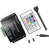 RF RGBW 24 Key controlador Music (12 A) para 5050 3528 LED de rayas de Module RF - Mando a 12 ~ 24 V