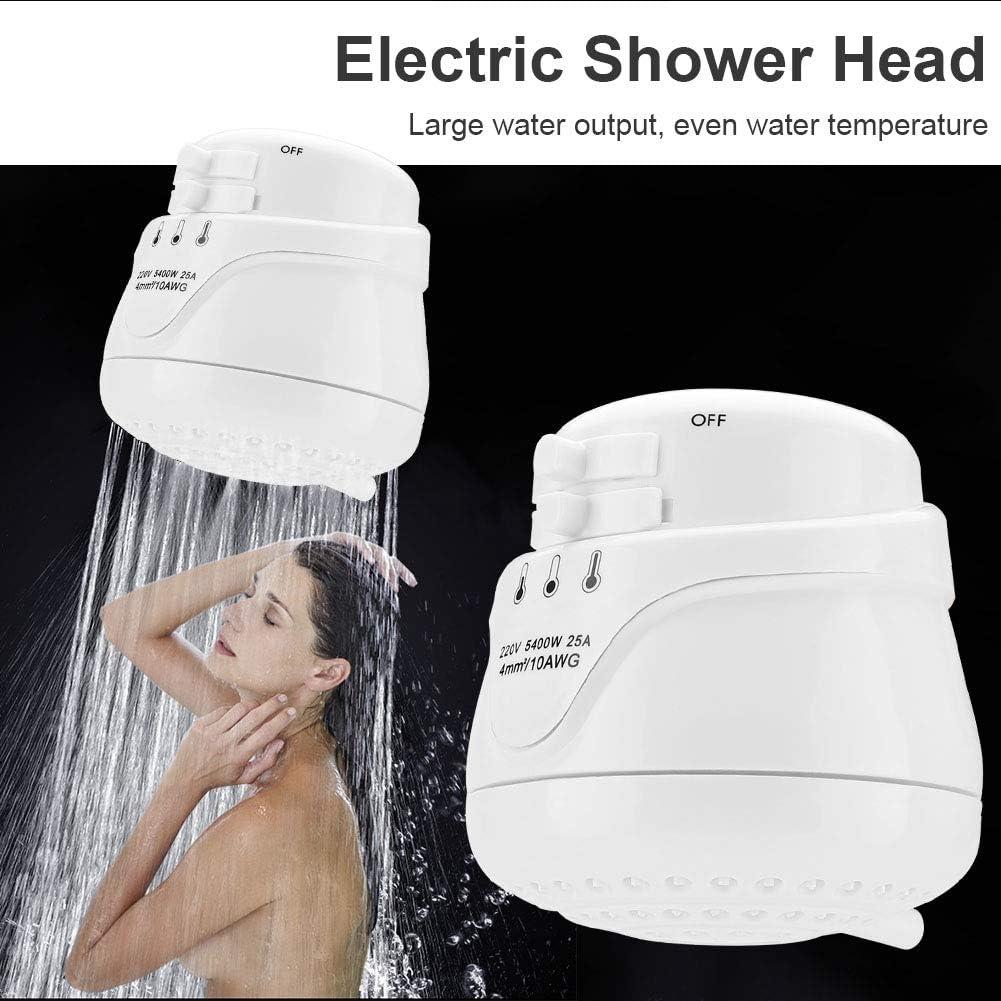 110V Cabezal de ducha el/éctrico-5400W Boquilla de ducha el/éctrica para el hogar Calentador de agua instant/áneo Cabezal de electrodom/ésticos