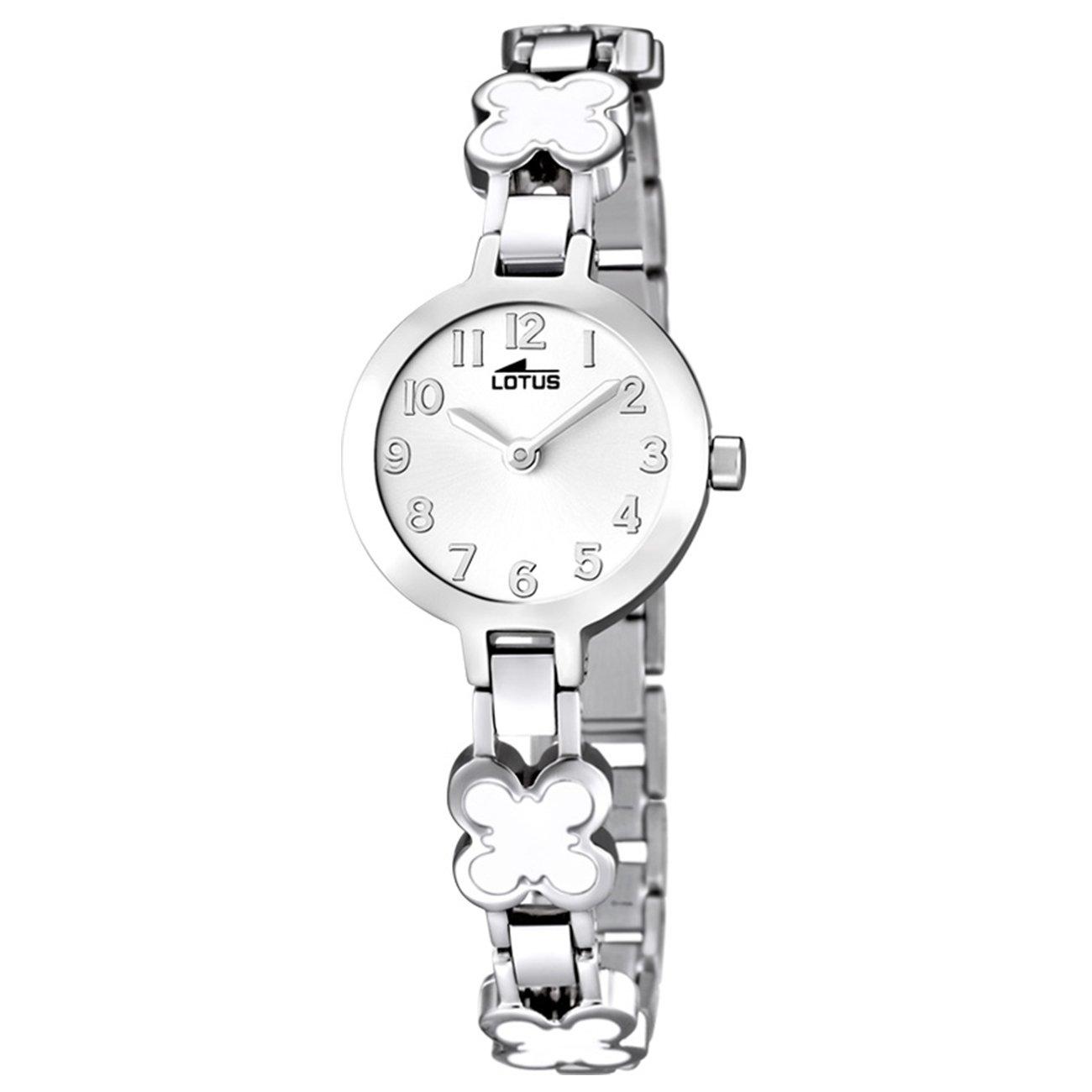 ad2098d93695 Lotus Reloj Analógico para Niñas de Cuarzo con Correa en Acero Inoxidable  15828 1  Amazon.es  Relojes