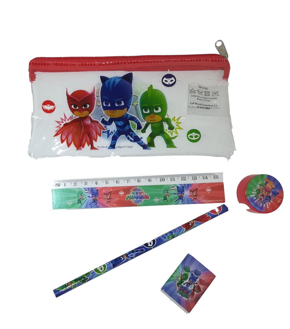 PJ Máscaras 4 paquetes Pijama Héroes de texto con 5 accesorios obsequios