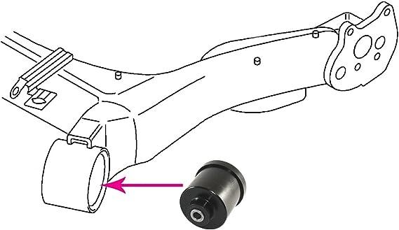 2x Audi TT MK1 98-06 Rear Axle Beam Polyurethane Bushings 72mm PSB 197