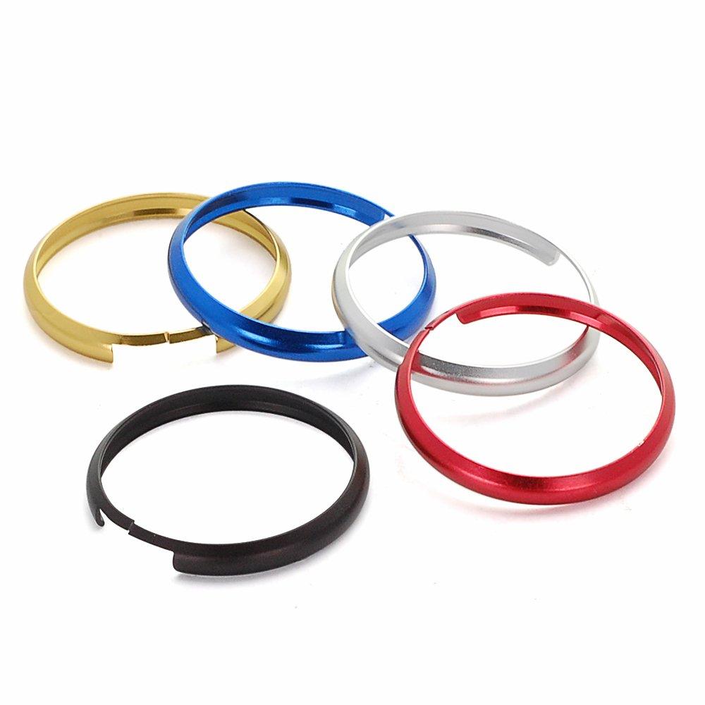 Astra Depot Red Aluminum Smart Key Fob Ring Rim Trim Cover Replacement for Mini Cooper