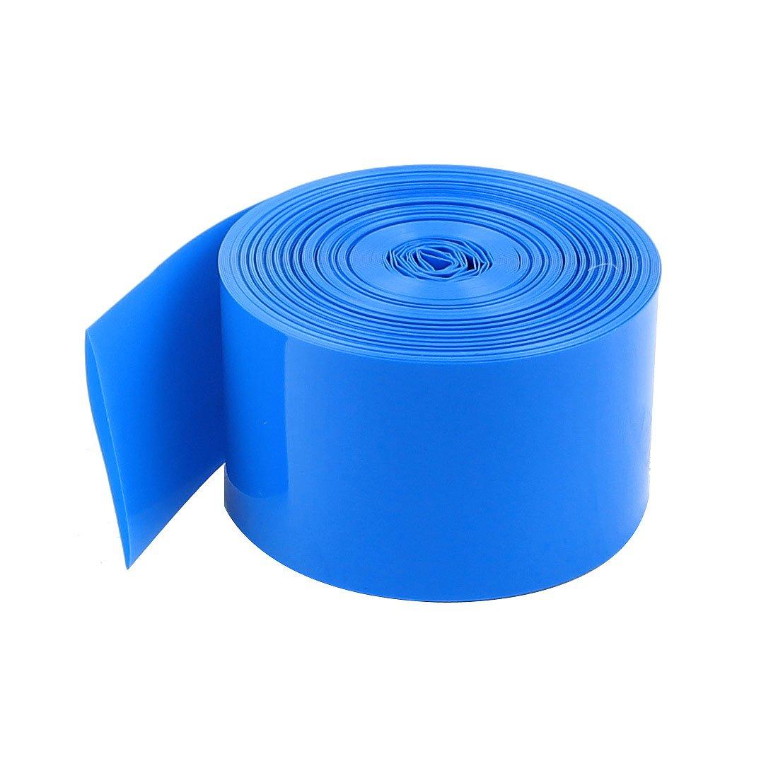 sourcingmap® 10Meters 29.5mm Width PVC Heat Shrink Wrap Blue for 1 x 18650 Battery a15012900ux0421
