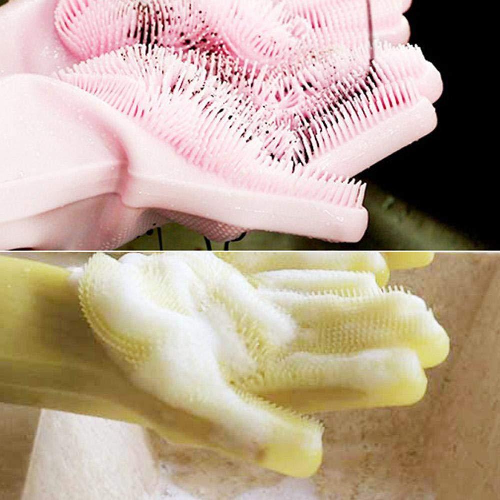 Cuisine KOBWA Magic SakSak Silicone Brosse De Nettoyage Brosse /À Gants R/ésistant /À La Chaleur Gants Lave-Vaisselle Soins des Cheveux Animaux De