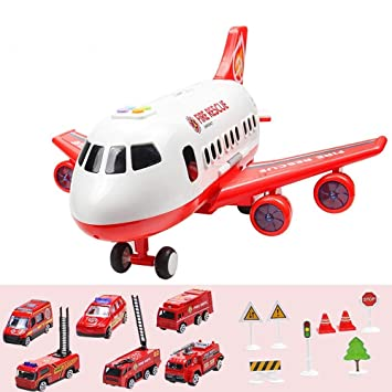 Alloy Pull Back Airplane Metal Model Toys Biplane Aircraft With Sound And Light