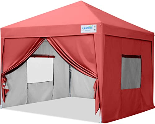 Quictent Privacy 10x10ft Pop up Canopy Tent