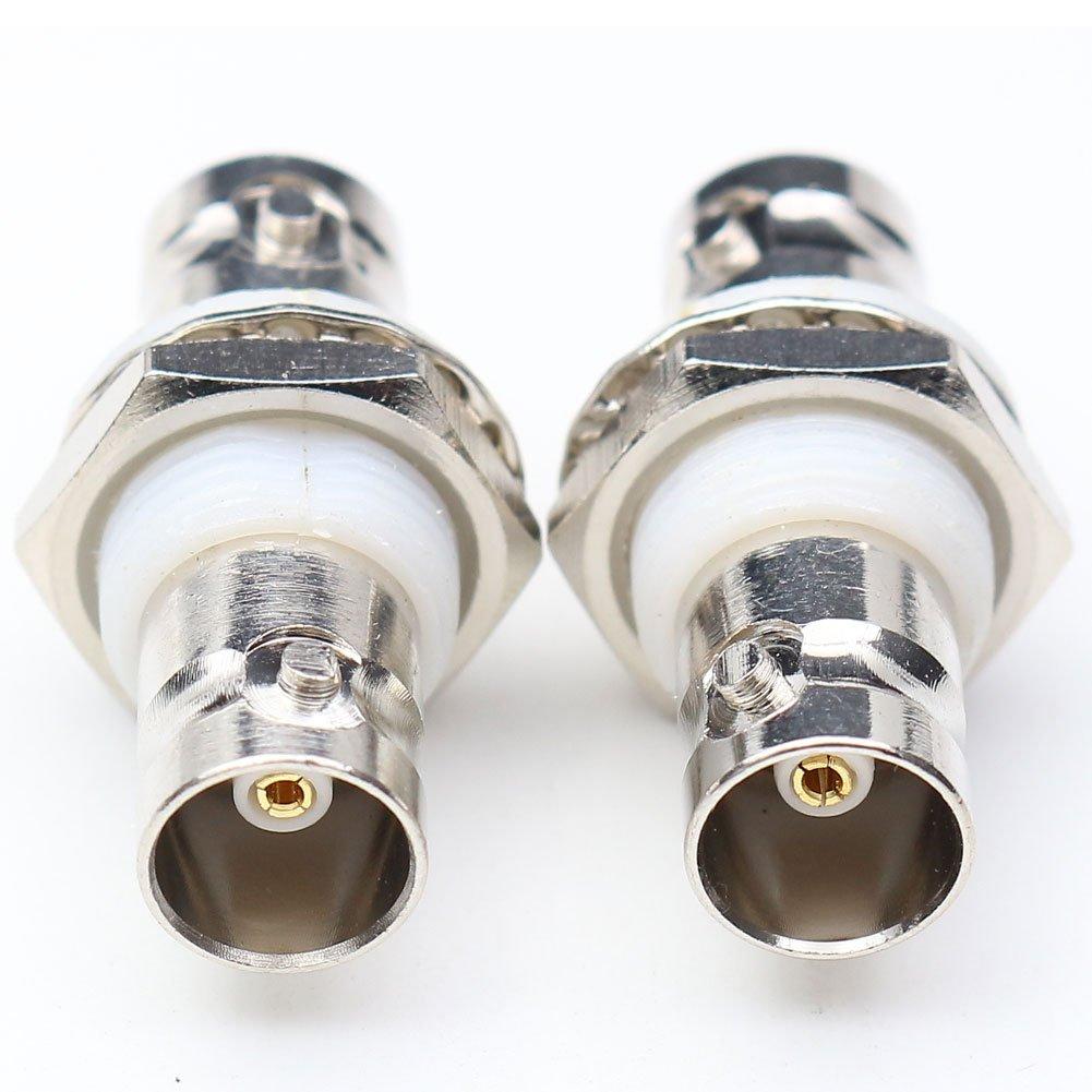 anhan BNC hembra a BNC hembra Jack mamparo con aislamiento conector adaptador RF Coaxial BNC recto adaptador 2 paquetes: Amazon.es: Electrónica