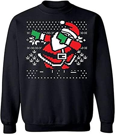 Zimaes-Men Knitted Christmas Long Sleeve Printing Crewneck Sweater Pullover