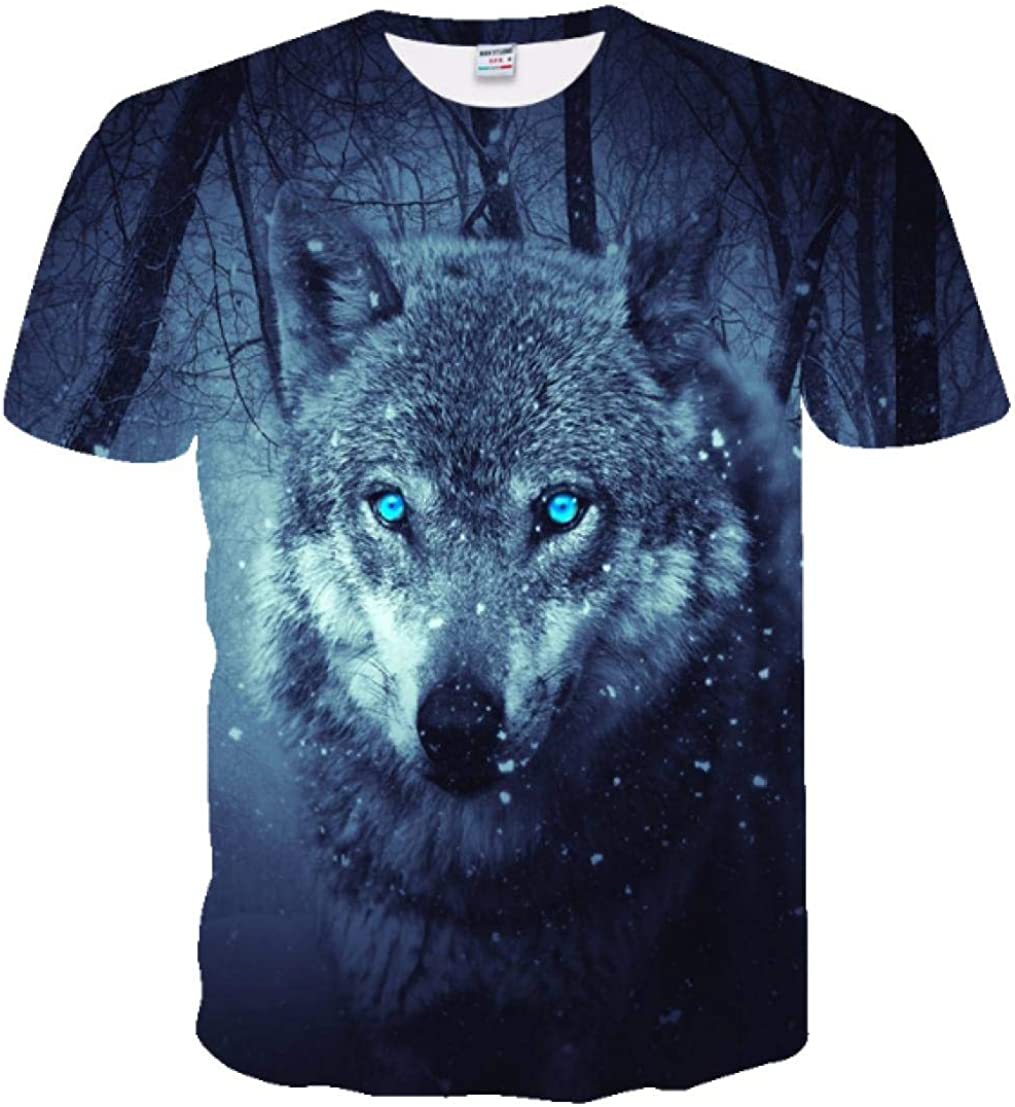 Camiseta de Moda para Hombre de Ryo Camiseta Lobo 3D Camiseta ...