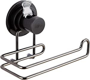 JIEPAI Vacuum Suction Cup Toilet Paper Holder Removable Bracket Wall Mount Towel/Tissue Rack for Bathroom Kitchen.Bronze