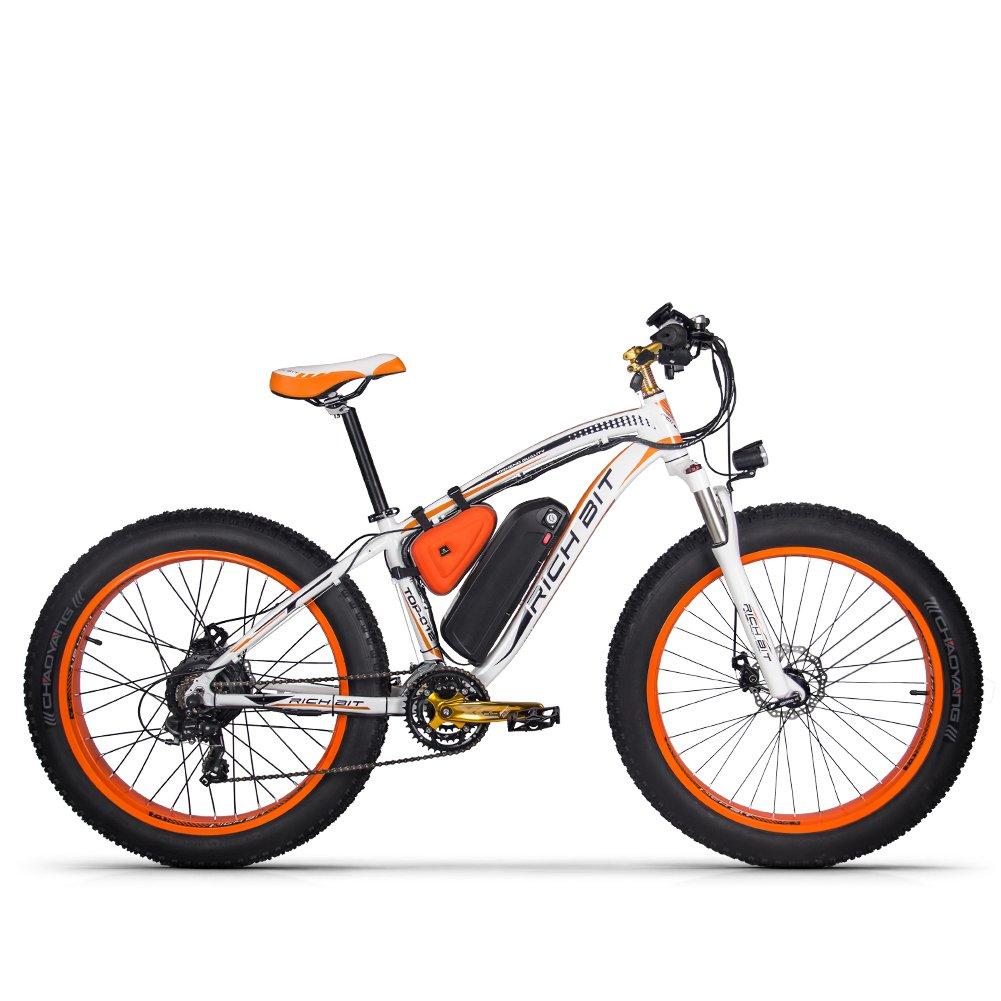 電動アシスト自転車 26インチ ファットタイヤ 1000W 電動アシスト自転車 ペダルアシスト自転車 日本専売(オレンジ) B0798CS2C8