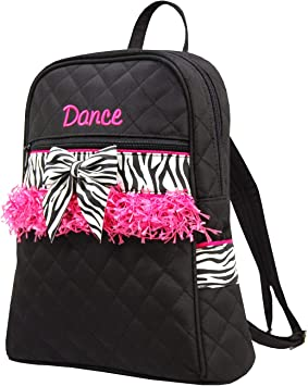 Lovely Girls Backpack Dance Bag Ballet Tutu Tap Quilted Dress Hot Pink Fuchsia